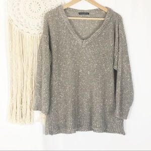 Brandy Melville Beige Loose Italian Knit Sweater